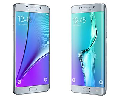 Fiches techniques du Samsung Galaxy S6 edge+ et Samsung Galaxy Note 5