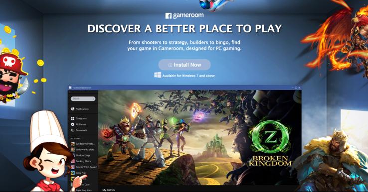 Facebook lance Gameroom en concurrence avec Steam