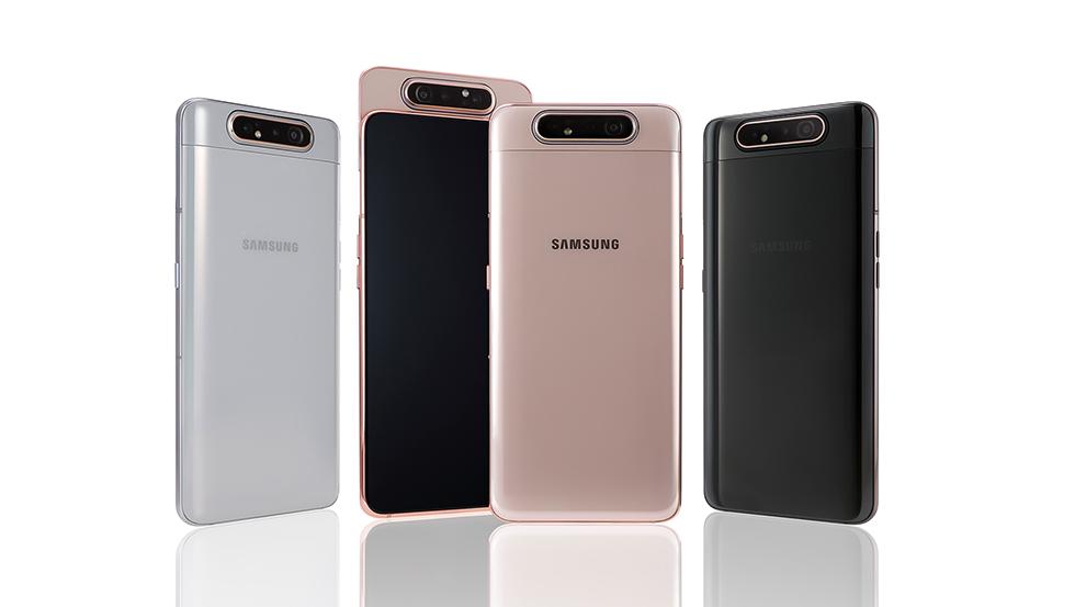 Samsung dévoile le Galaxy A80 avec un écran sans bordure et un module caméra rotatif
