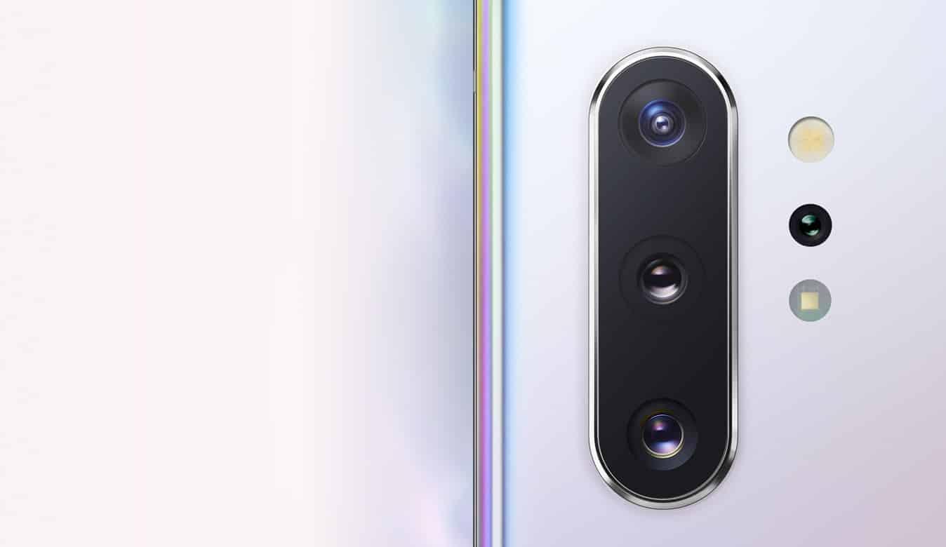 Le caméras du Galaxy Note10 plus