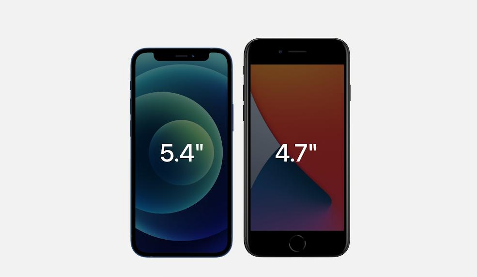 iPhone 12 mini vs iPhone SE 2