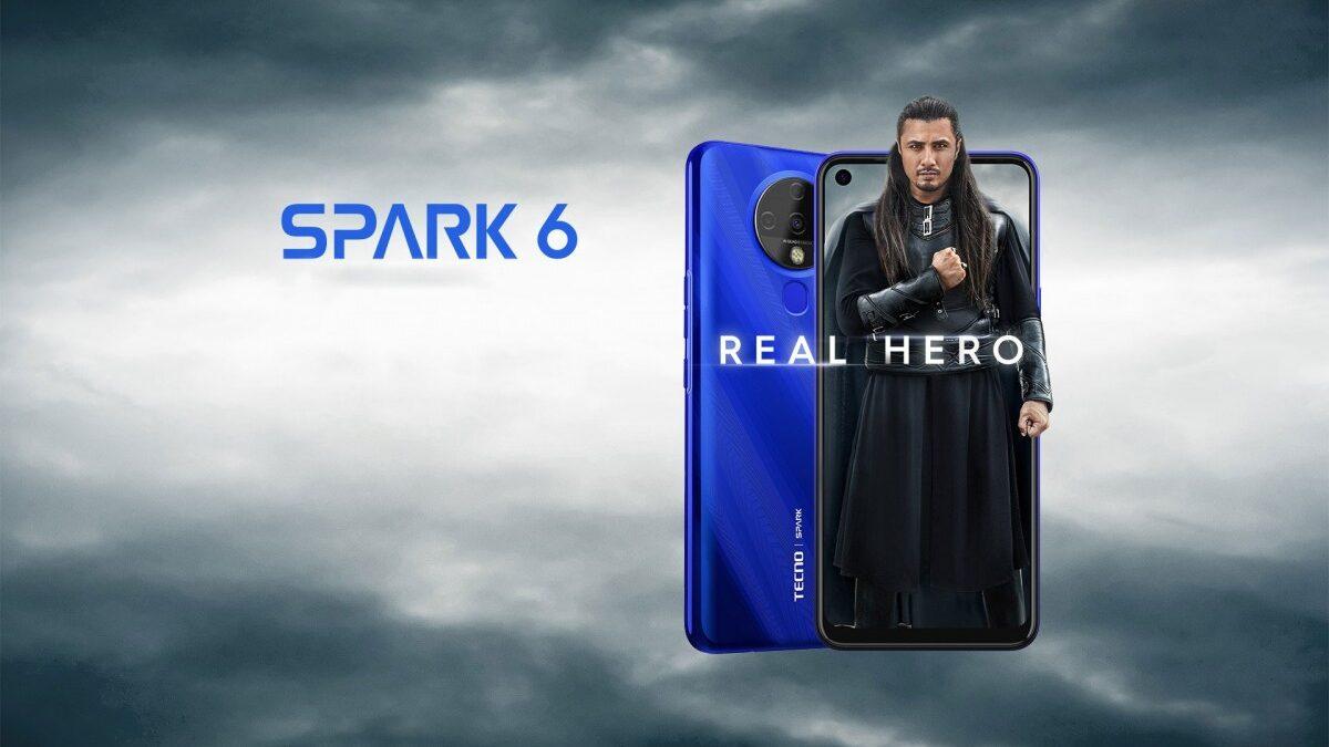 Le Tecno Spark 6 embarque l'Helio G70 avec un écran de 6,8 pouces